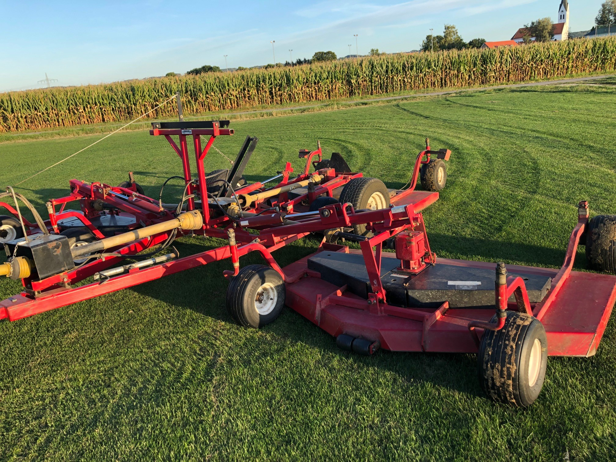 Progressive TD92 Tri Deck Mower for sale